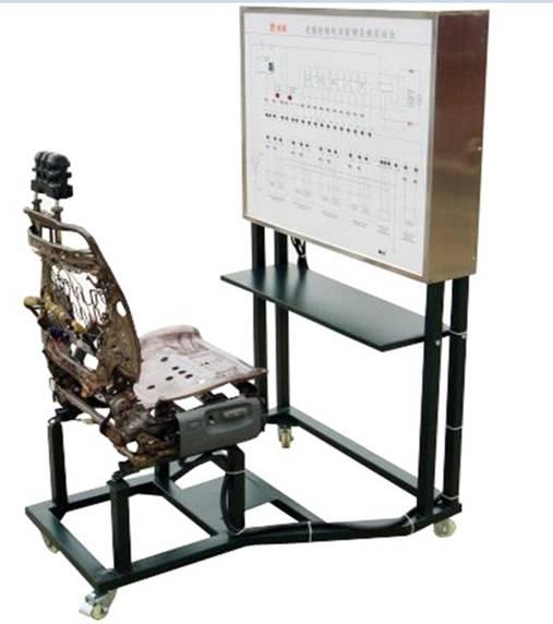 面板上绘有完整的电动座椅系统的电路图
